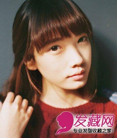 时尚甜美的圆脸女生发型 →圆脸留什么短发好看 非常经典的齐刘海波波