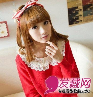 甜美的韩系女生中长发设计(6)  导读:中长度的 女生发型 ,甜美又可爱