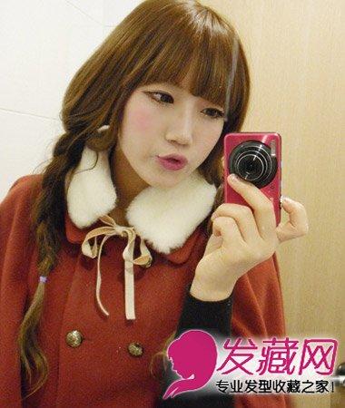 长发烫发(6)  导读:一款超简单的韩式长发扎法,长发扎蓬松感发辫造型图片