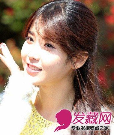 什么发型最显气质 可爱亮眼的韩式中长发烫发(9)