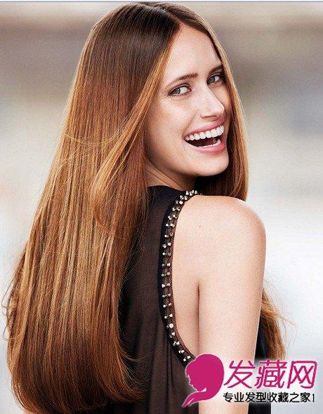 女生长发直发发型 演绎魅力性感风(4)图片