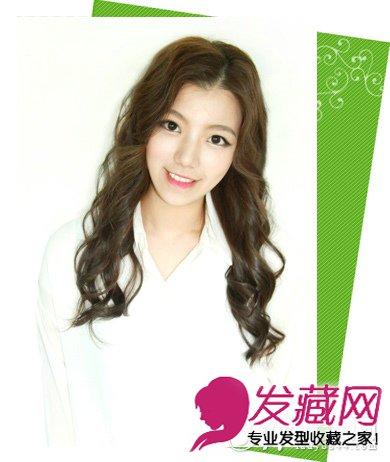 > 韩国女生ol短发发型 栗色蛋卷烫发型(4)  导读:style 5 中分卷发