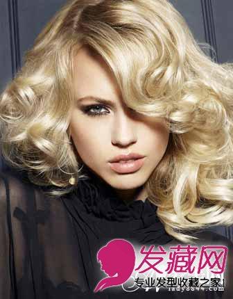 外国人卷发发型 性感时尚魅惑感十足图片