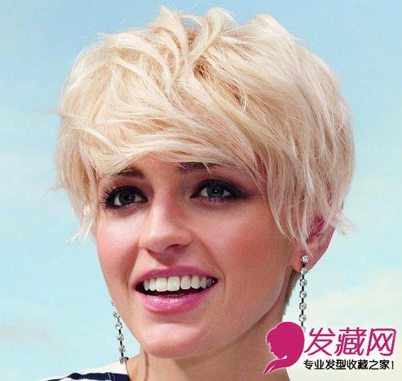 短发发型女生图片 栗子色的发丝染色(6)图片