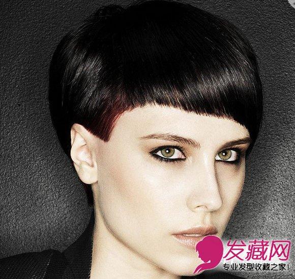 短发发型女生图片 栗子色的发丝染色(7)图片
