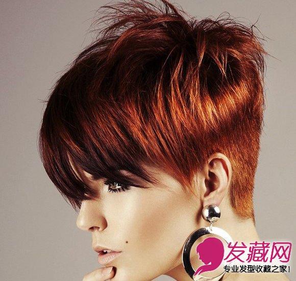 短发发型女生图片 栗子色的发丝染色(8)图片