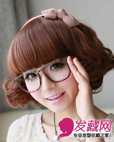 有什么好看的发型 俏皮韩式短发蛋卷头(8)
