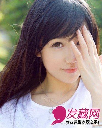 清甜纯美学生装发型 齐刘海波波头(4)图片
