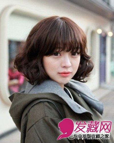 时尚可爱韩式短卷发发型 短发特别显气质(6)