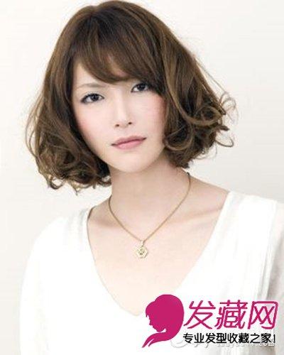 时尚可爱韩式短卷发发型 短发特别显气质(7)