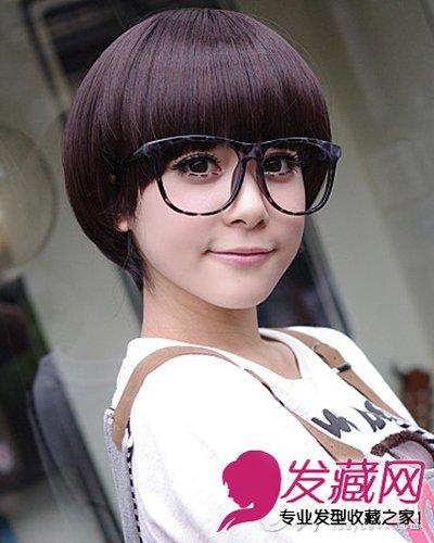 柔顺感极强的蘑菇头短发发型 显可爱活泼(3)图片