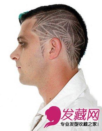 男生刀疤头发型 酷帅更显个性(一)