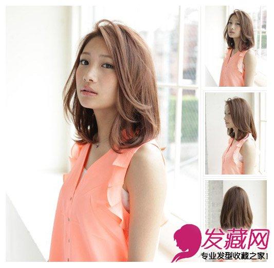 荷叶头发型图片 碎发斜刘海长脸mm最佳发型(5)图片