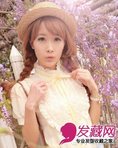 脸大的女生适合什么内卷短发发型 刘海瘦脸(8)