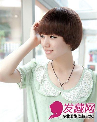 90后柔顺短直发发型 90后齐刘海波波头短发(8)