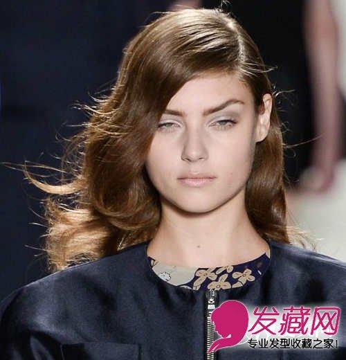 长脸适合的刘海发型三图片
