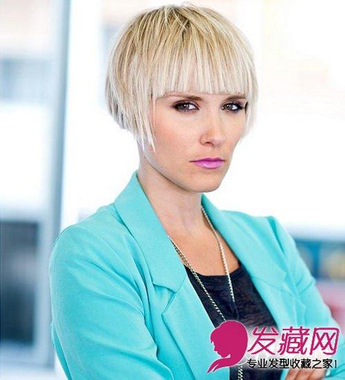 导读:30岁女人发型七: 齐刘海起到很好修饰长脸的作用,而蓬松的短发图片