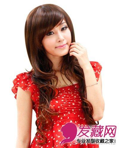 颧骨高适合什么发型:个性斜刘海直发(6)图片