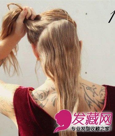 编发简单优雅麻花辫盘发 简单的皇冠发饰(2)