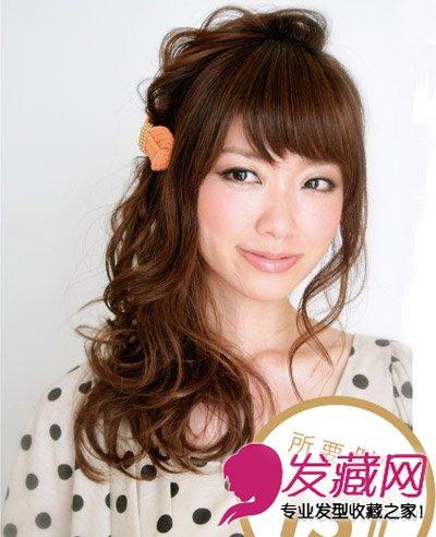 图】长发发发型设计图片公主复古编发发夹超显侧边齐刘海长卷切图片
