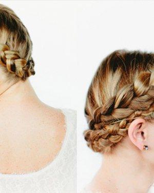 精致唯美的花环编发 简约气质优雅的花苞头盘发