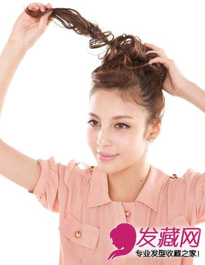头发少怎么扎丸子头 假发&花苞头设计最美发型(5)