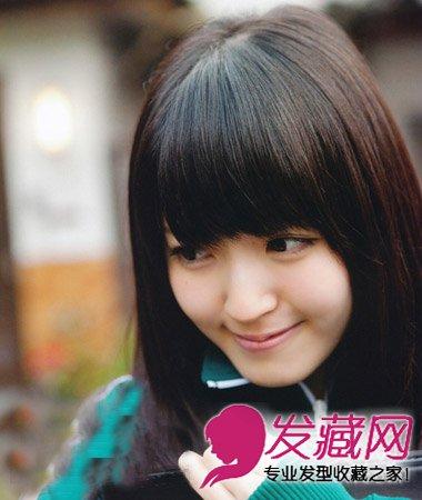 > 甜美风席卷校园 可爱发型90后mm清纯无敌(2)  导读:这款斜刘海 发型