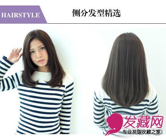 三七分长刘海烫出外卷发型 斜刘海最具女神范(7)图片