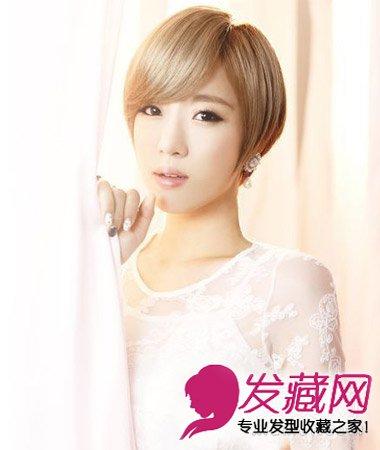 女生什么短发好看 甜美清新的韩系短发发型(4)