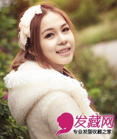 刘海怎么弄好看 中分卷发发型非常的瘦脸(2)图片