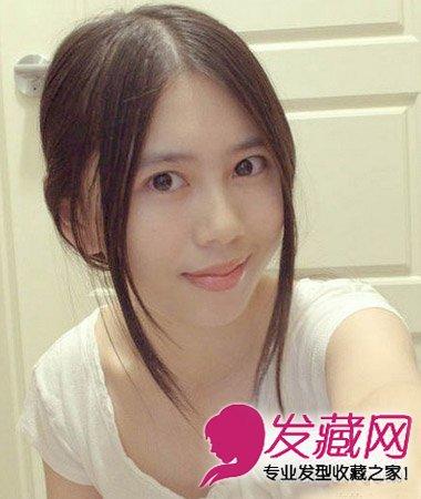 刘海怎么弄好看 中分卷发发型非常的瘦脸(8)图片