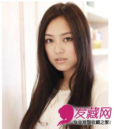 最新女生发型与脸型搭配 中长发女生直发发型气质佳(8)