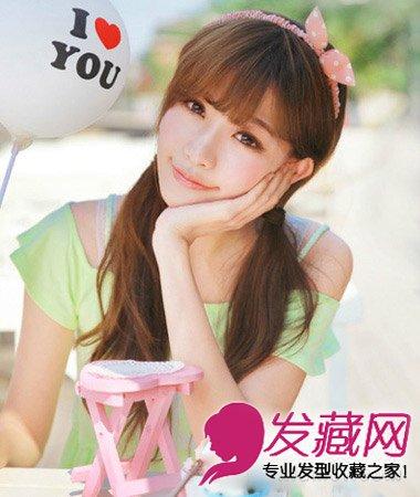 长脸,圆脸:短刘海ok,中分长刘海ng →甜美的齐肩短发发型 选对刘海图片
