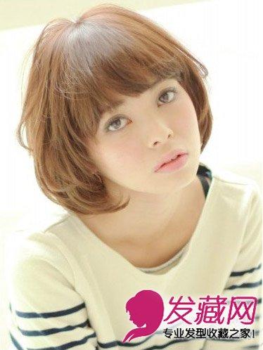 瘦脸必备短发发型 胖女孩简单内卷发发型(3)
