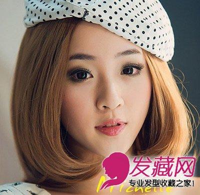 最新胖圆脸短发发型 气质的中短发烫发发型 →圆脸红妹赵丽颖 青春
