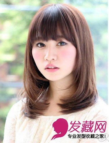 9款齐肩发完美修饰 →2015长脸女生发型设计 长发短发一样很时髦