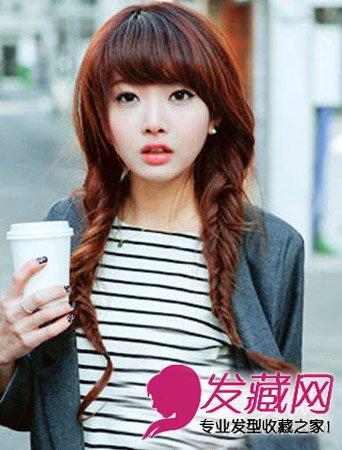 韩式发型的辫子编发 注重淑女甜美的风格