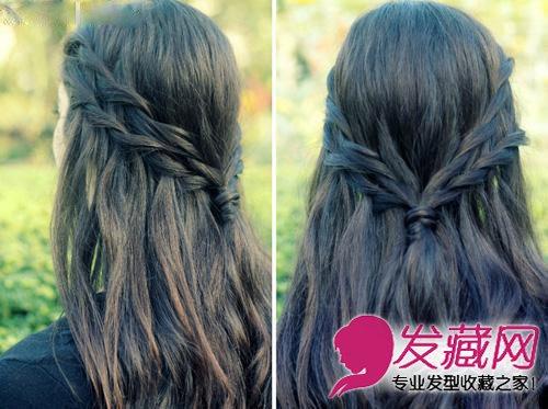 图】超仙长发系森林扎法适合短发编发下巴美丽气质短图解什么样的发型图片