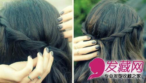 超仙森林系长发扎法图解 气质编发发型美丽蜕变(3)