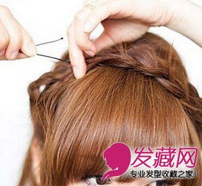 【图】韩式简单中长发怎么扎才好看(6)_中长发型_发藏