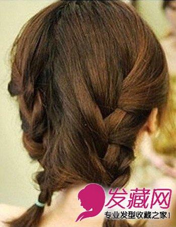 发型图片 短发发型图片 > 短发发型必修 韩式简单编发(5)  导读:步骤5