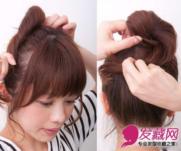 超简单丸子头盘发 发型简单更显淑女气质(4)图片