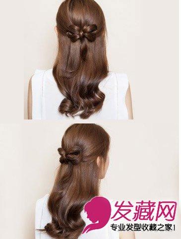 韩式公主头的扎法图解 韩式扎发diy女神气质(9)图片