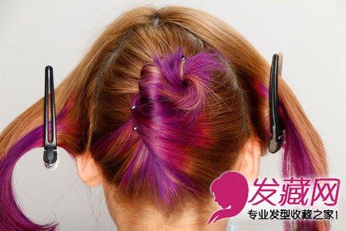 图解韩式猫耳朵发型扎法 圆鼓鼓的造型俏皮可爱(5)图片