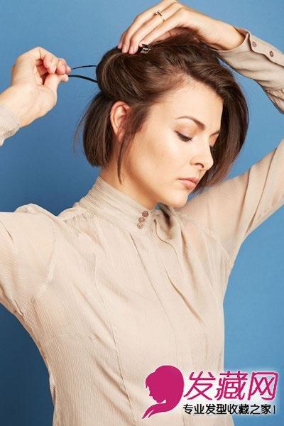 怎么扎简单好看 两款扎发塑精致女人(2)  导读:侧后方2个部分的头发也图片