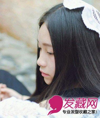 齐刘海长直发发型 圆脸女生最适合直发发型(2)图片