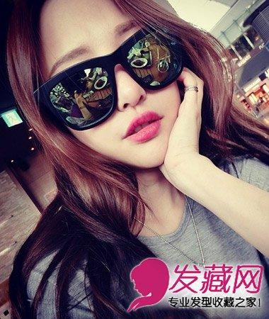 2015中分刘海的女生发型 方脸妹子超显瘦(5)