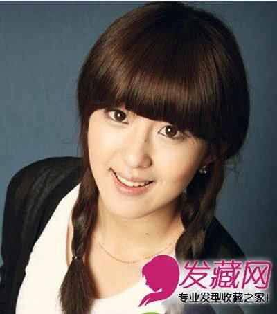 最新发型与脸型搭配 圆脸适合什么样的刘海(2)图片