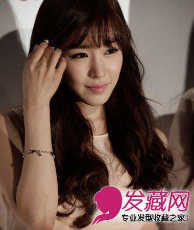 韩式发丝烫发披肩随性长卷发型发波纹(7)骨头型口塞图片