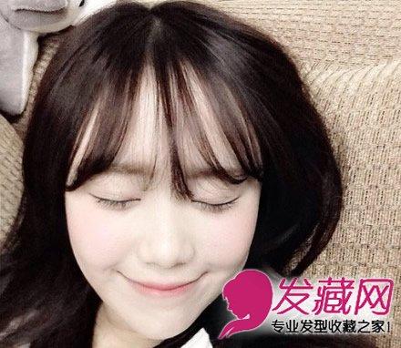 流行韩式空气刘海 适合学生妹子的发型(2)图片